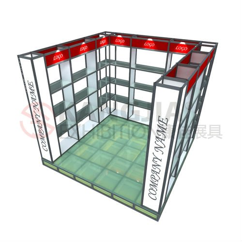 portable aluminum glass exhibition booth