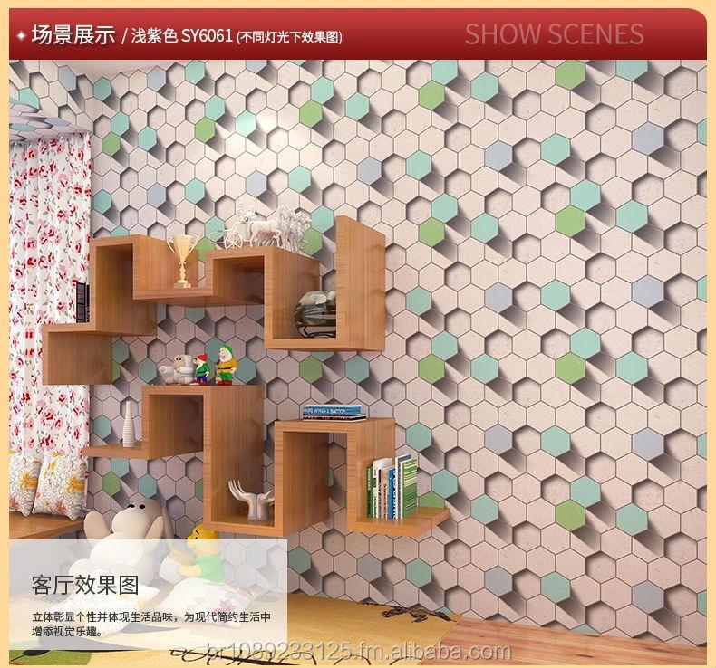 2017 nouveau 3d vinyle papier peint rev tement mural pour salon 3d papier peint papier peint. Black Bedroom Furniture Sets. Home Design Ideas