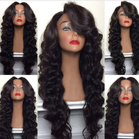 Natural Looking Virgin Hair Brazilian Human Body Wave Full Lace Wig