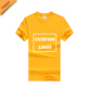 Women Yellow Round Neck T Shirt With Your Own Logo