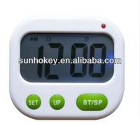 Digital LCD Alarm Clock 24 hours Kitchen Sport CountDown Timer ( Music / Vibration)