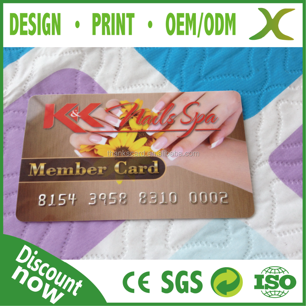 Design of discount card - Free Design Credit Card Size Plastic Membership Card Plastic