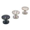 Satin Nickel Mushroom Type Metal Pull Knobs for cabinets, cupboards, furniture doors and drawers in kitchens