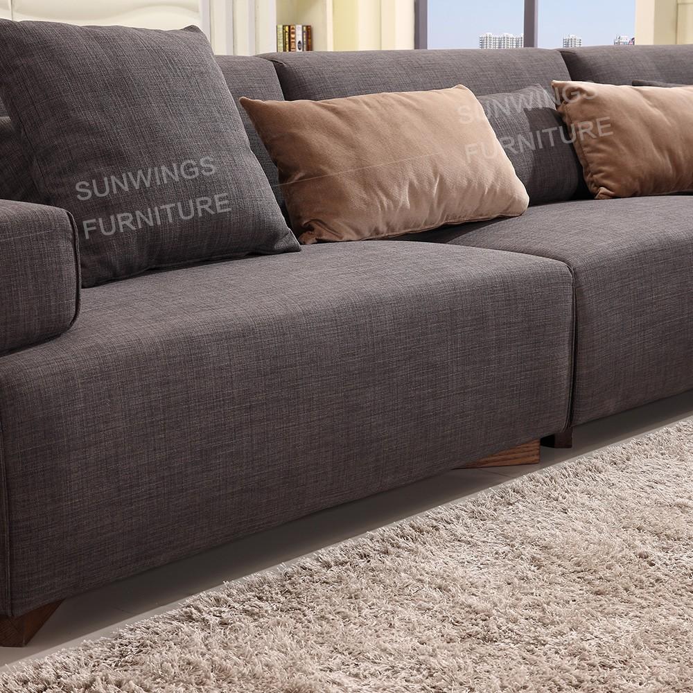 Meubles de salon moderne canapé en tissu avec la jambe de bois ...