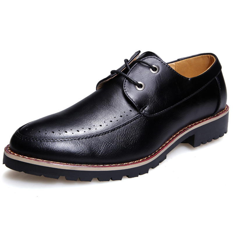 Men Shoes 2015 New Leather Man Dress Shoes Breathable Formal Wedding Shoes Flats Sapato Social Masculino Spring Black Size 39-43