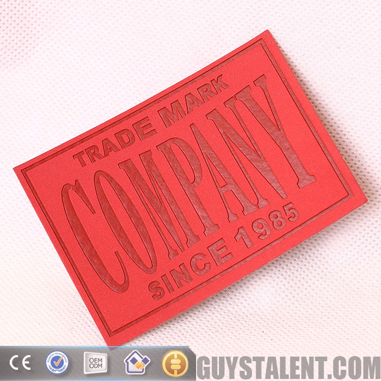 PU leather patch accept customized size and logo with garments