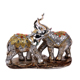 2Pcs/set Silver Polyresin Ornate Elephant Statue Lucky Figurine Sculptures Ornaments for Home Office Decor