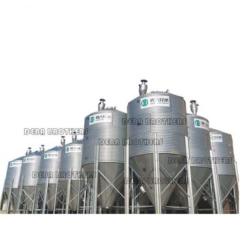 Hot Galvanized Pig Farm Feed Big Capacity 25 ton Silo