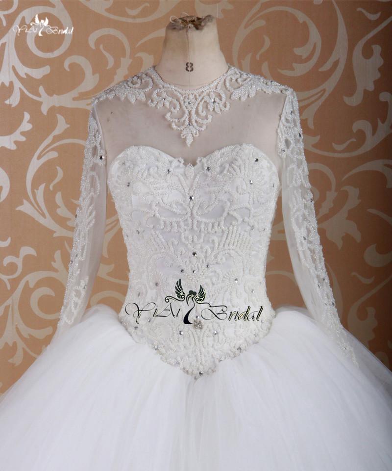 rsw755 de manga larga vestido de vestidos de novia aliexpress china