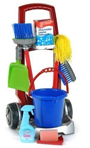 Game / Play Theo Klein Cleaning Trolley, trolley, set, laptop, trolley, business, trolley, cleaning Toy / Child / Kid by WE-R-KIDS