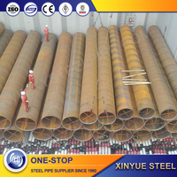 high quality api5l gr.b black round q345 e stainless steel spiral welded pipe beveled end xinyue company