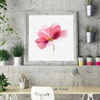 Modern house decor fresh and elegant picture red flower painting art