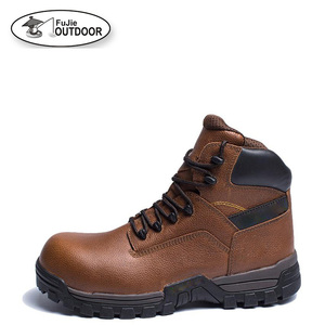 Mens Leather Safety Work Boots