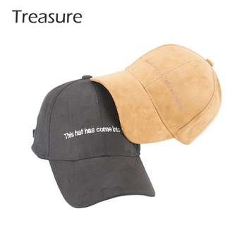 Custom hat suede baseball cap curved brim structured design your own dad hat  OEM material 983442824c8