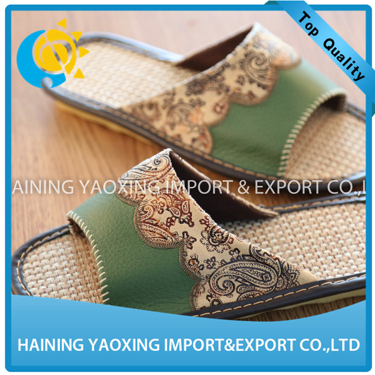 2017 new design slipper for women indoor slipper linen sole summer