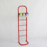 Customized white color cell phone case metal hook display stands rack/wire metal shelf/steel shelf