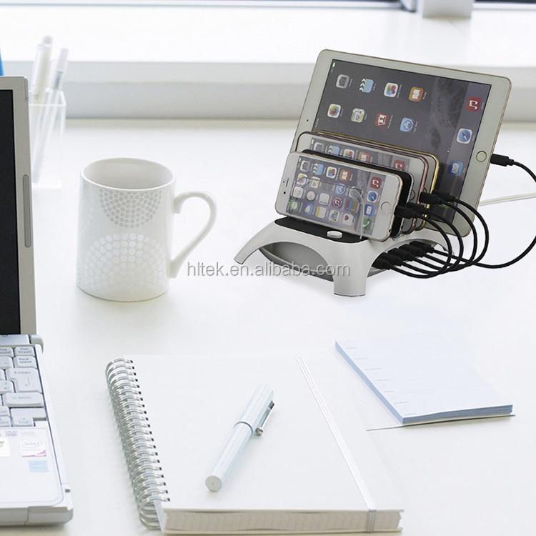 60W 5 Port dock station Multi Device USB Charging Docking Station desktop charger 5V 12A