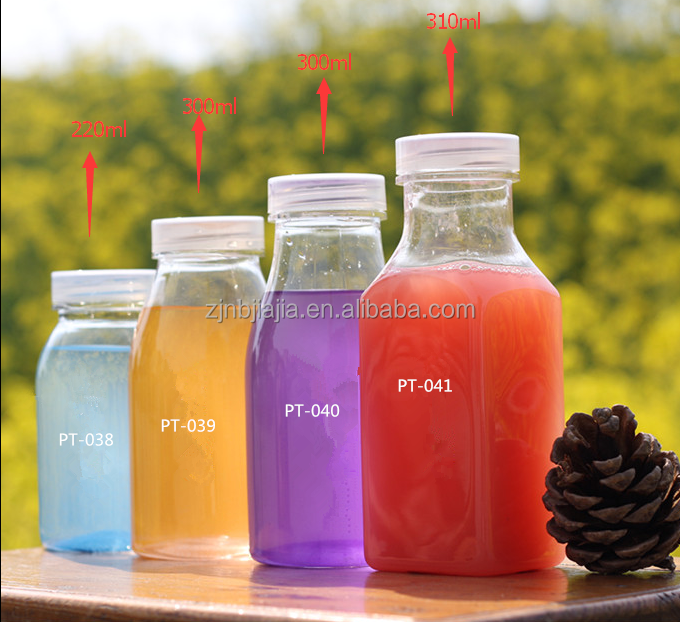 Food grade clear and new product 300ml plastic <strong>bottle</strong> for packaging milk juice plastic <strong>bottles</strong> for carbonated drinks
