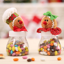 China factory hot sale lovely custom fancy  gingerbread man plastic gift candy box