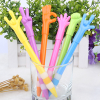 Wholesale Low Cost Logo Printed Plastic Kawai Gesture Ball Pens For Kids