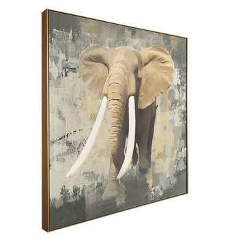 Square Size Wall Art Elephant Oil Painting On Canvas Buy Oil Painting Wall Art Elephant Oil Painting Elephant Oil Painting On Canvas Product On