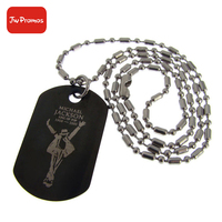 Jiawang manufacturer custom logo silicone dog tag with ball chain