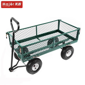 Heavy duty durable removable folding sides platform dolly with canopy four wheel garden carts