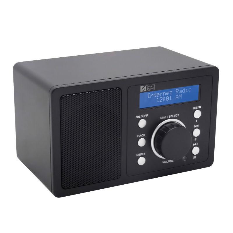 ocean digital brand new portable desktop music media player wireless wlan wifi internet radio. Black Bedroom Furniture Sets. Home Design Ideas