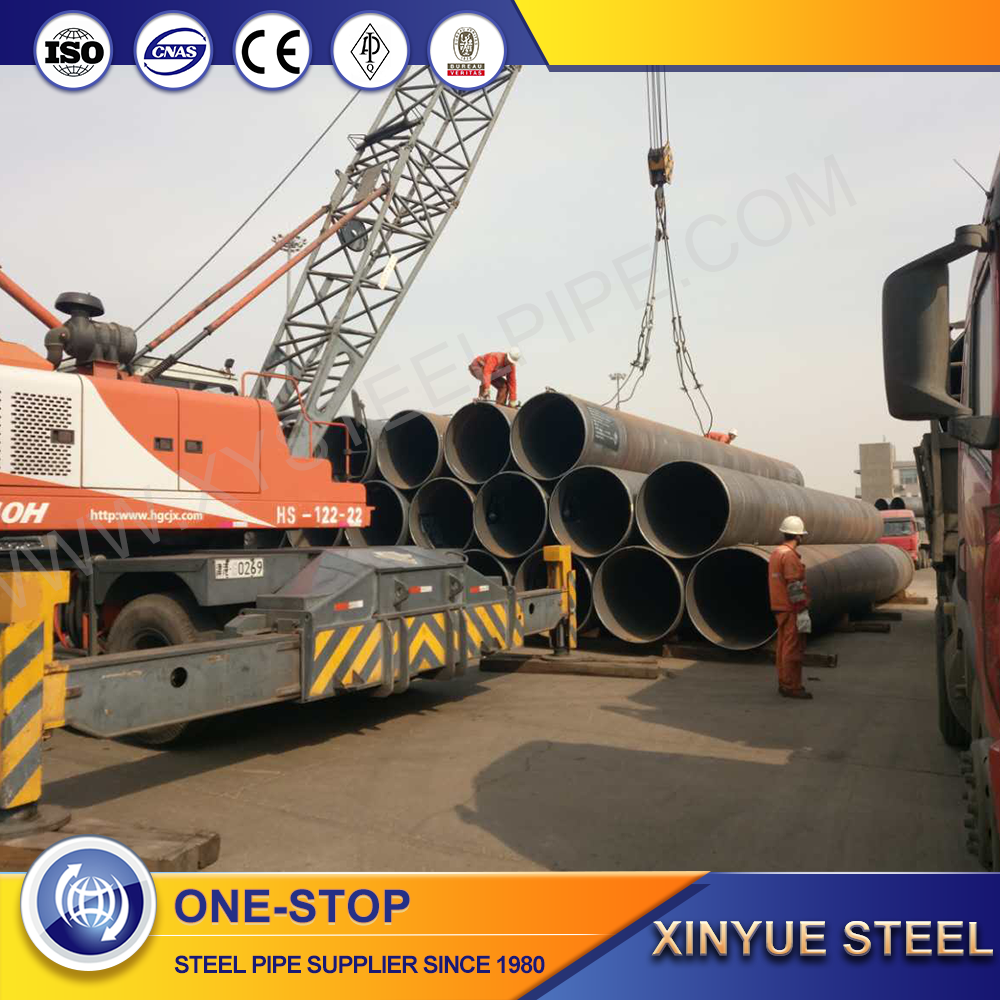 spiral welded steel pipe/tube for liquid/fluid transmission