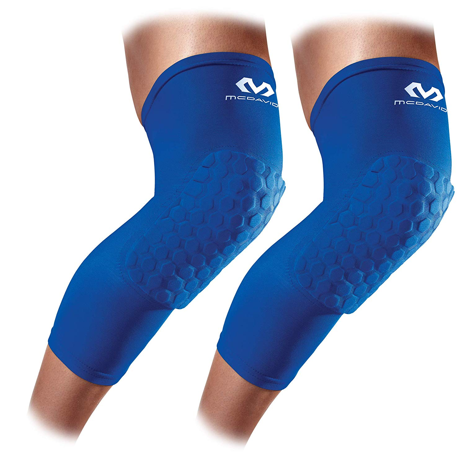 34121067b5 Get Quotations · Mcdavid 6446 Hex Knee Pads Compression Leg Sleeve for  Basketball, Football & All Contact Sports