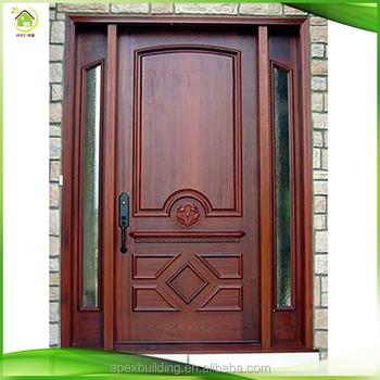 China moderna de madera maciza de caoba doble exterior for Puertas de entrada de madera maciza