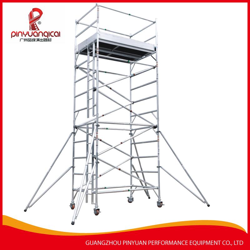 Good quality best sales Aluminum mobile stair Scaffolding in Contruction