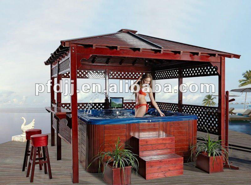 Moderno legno gazebo spa torre id prodotto:610775571 italian ...
