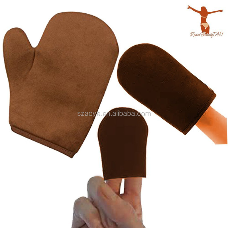 3 Packs Auto Tan Mitt Sunless Tan Guanti Applicatore Viso Guanti per Auto Tanner