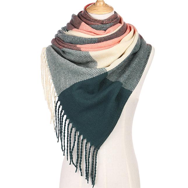 Wholesale Korean Version Knitted Jacquard Cashmere Plaid ...