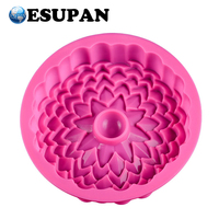 Big Beautiful Cake Decoration Tools Sunflower Shape Silicon Bread Pan Silicone Cake Mould