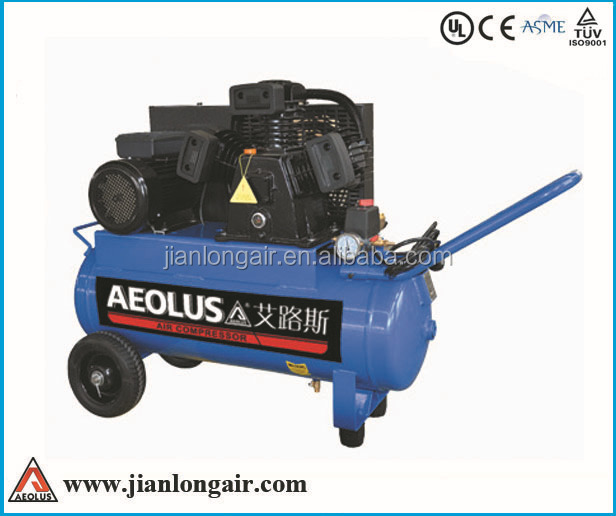 Jianlong best seller electric/gasoline/diesel portable piston type belt drive cheap air compressor for sale