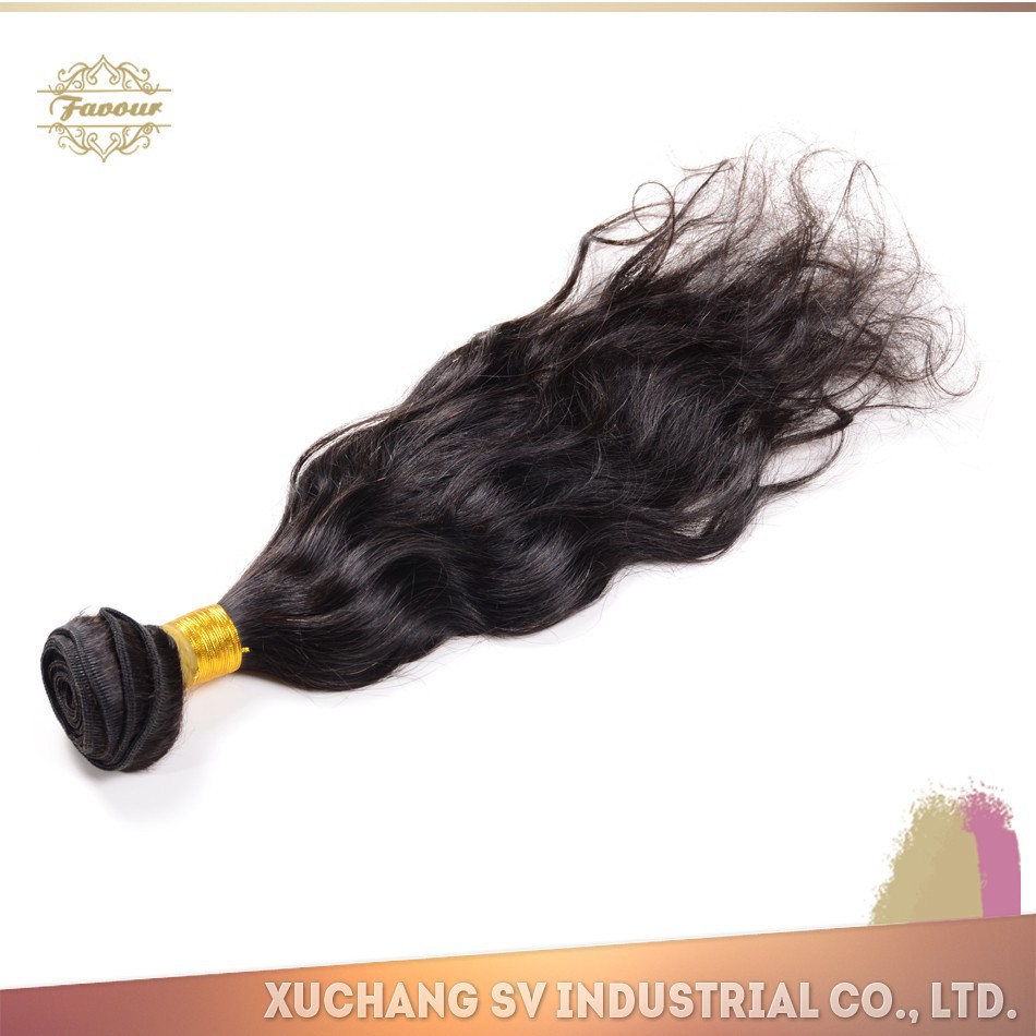 Real human virgin remy hair weave Shining and Soft wet and wavy indian remy hair weave