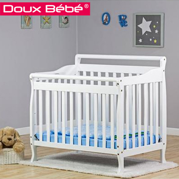 Portable Baby Crib With Adjustable Tap Position, Wooden Baby Crib