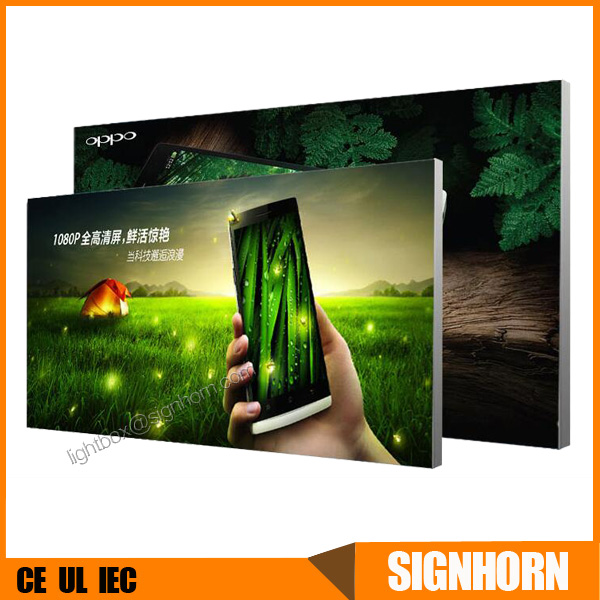 Advertising display indoor canvas fabric ultra thin frameless led light box