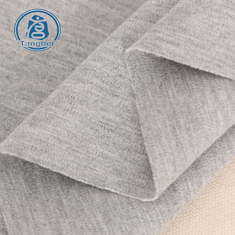 Good Factory Yarn Dyed Heather Grey <strong>Cotton</strong> Rayon Nylon Spandex Fabric <strong>Cotton</strong>