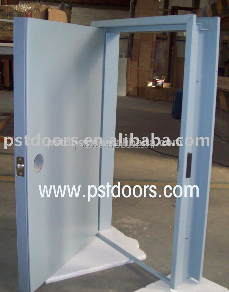 High Quality Israel Steel Door With 4 Way Lockpeepholeand Down