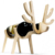 Wholesale MDF Wooden Animals Bone Bottle Wine Bottle Holder