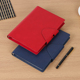 Business office custom A5 pu leather loose leaf notebook metal 6 rings with pen