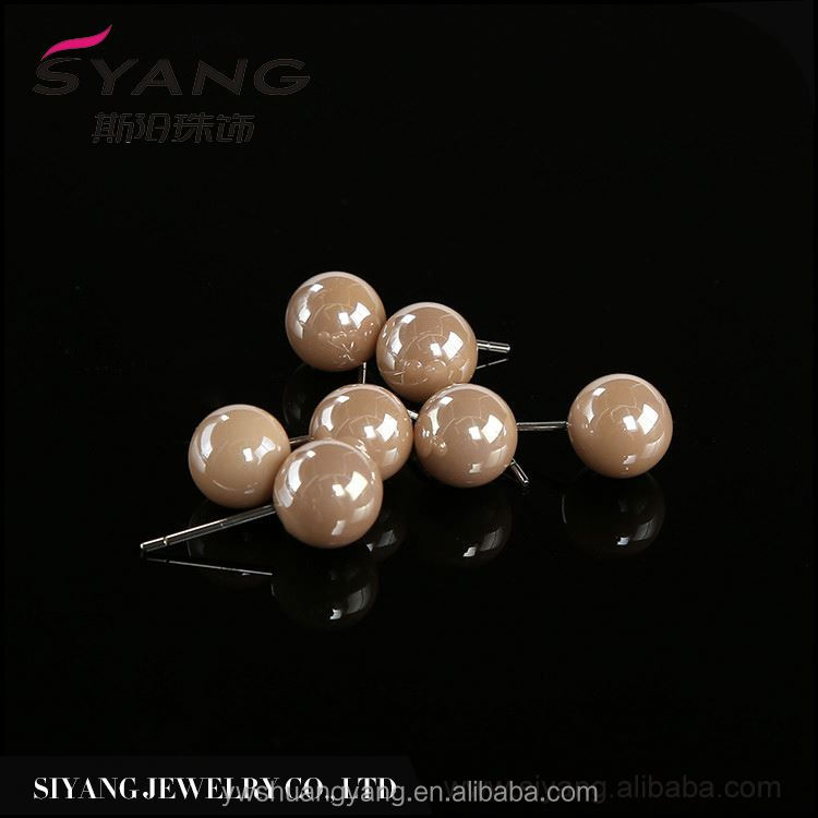MAIN PRODUCT excellent quality fine gold saltwater pearl earrings from manufacturer
