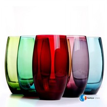 smoke amber orange black yellow blue green gold colord glassware