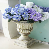 Wholesale 6 Big Hydrangea Artificial Flowers Wedding Supplies Yiwu Artificial Flowers