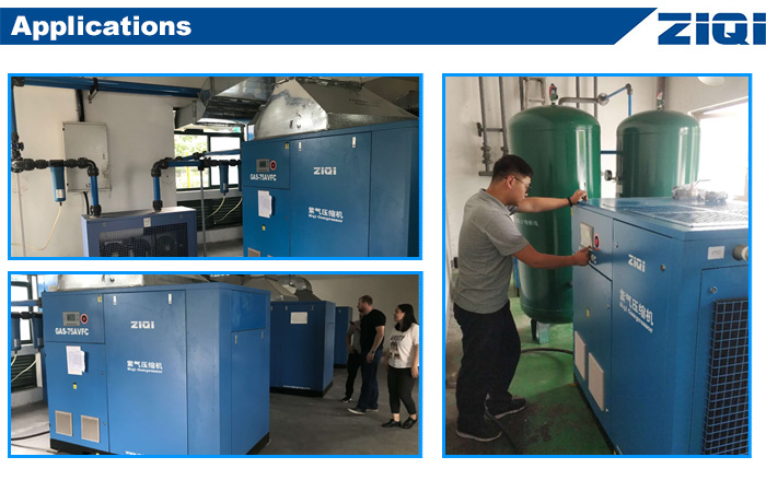 Chinese Supplier 37kw 50hp Shanghai Customized Screw Type Air Compressor