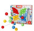 Creative Novel DIY Nail Beads Plastic Flashboard block Children Baby Toys 3D model buliding blocks Kids