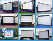 Advertising screen protector film roll, inflatable screens for movie, indoor / outdoor giant screen for sale!